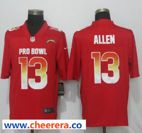 Discount Nike AFC Chargers 13 Keenan Allen Red 2019 Pro Bowl Limited Jersey