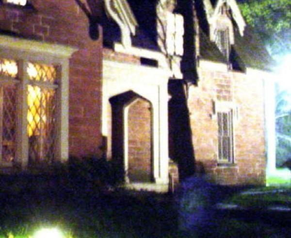 Kathleen Popola's full body apparition photo taken at The Hermitage, Ho-Ho-Kus, NJ