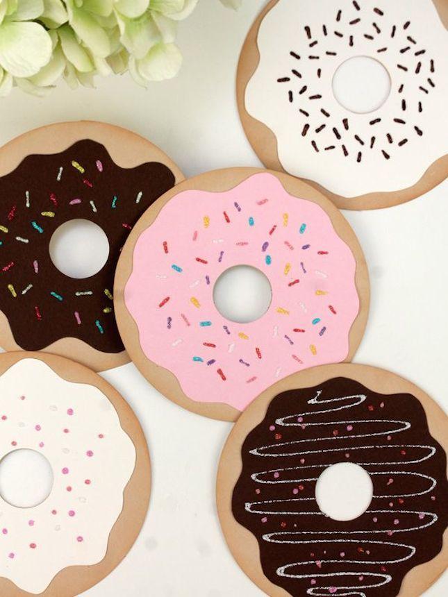 DIY Donut Greeting Cards Tutorial
