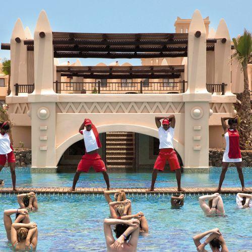 Riu Touareg - Cape Verde - Hotel All Inclusive in Boa Vista - acqua gym - entertainment team