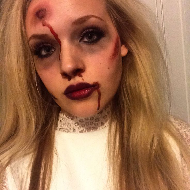 Halloween makeup, I'm using for a corpse bride costume but you could use it for a zombie/dead look with a range of costumes. I'm going to finish it with messy hair, a dirty wedding gown and a blackened vail. Great for a scary couple costume idea