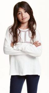 hm-top-koritsi Blouses for H & M girls (8-14 + years)