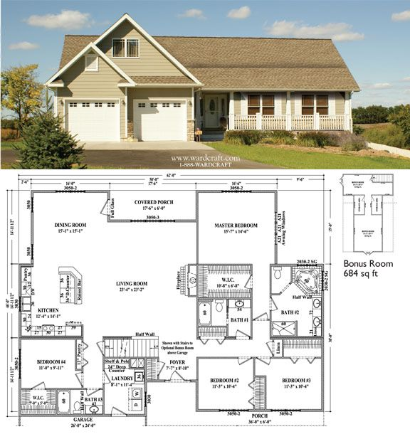 Springfield III 2,471 Sq Ft 4 Bedrooms, 3 Baths + 684 Sq
