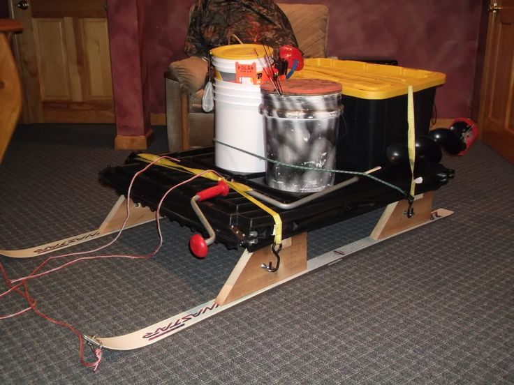 17 best images about sled homemade on pinterest ice for Ice fishing sled ideas