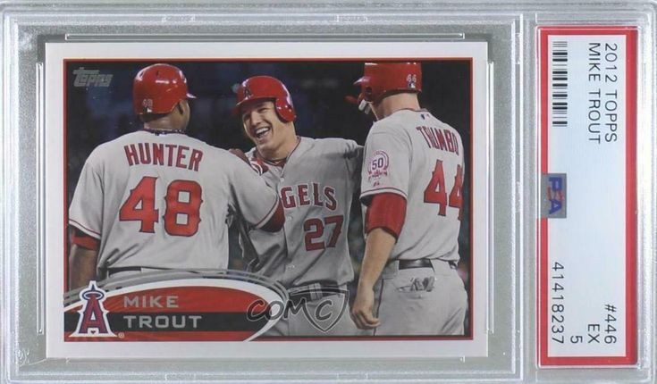 2012 topps mike trout 446 psa 5 in 2020 mike trout