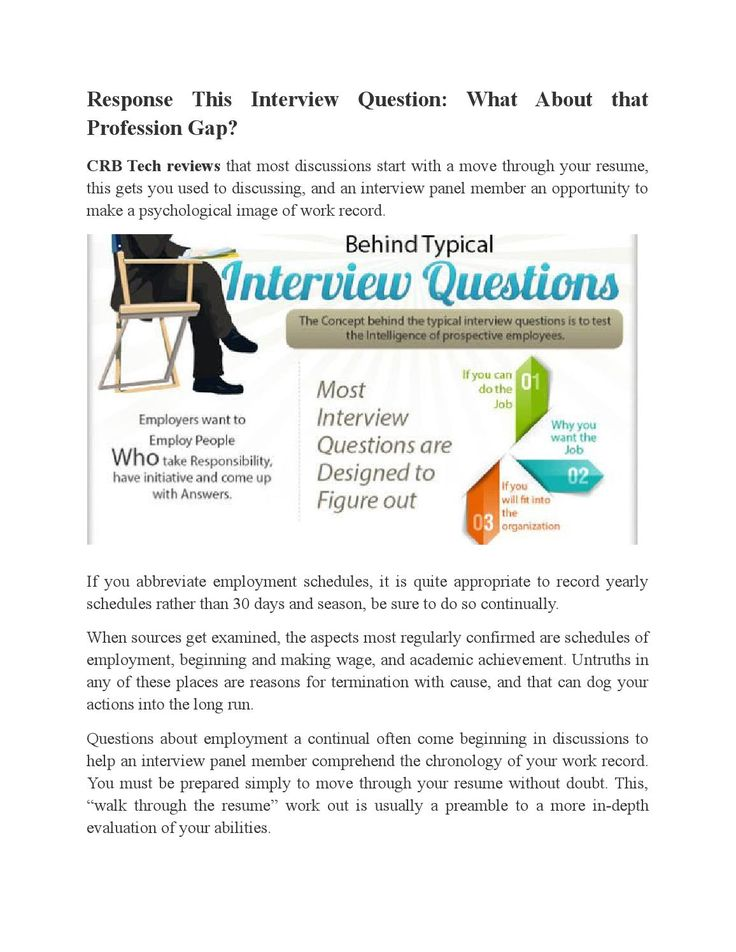 Response This Interview Question: What About that Profession Gap?