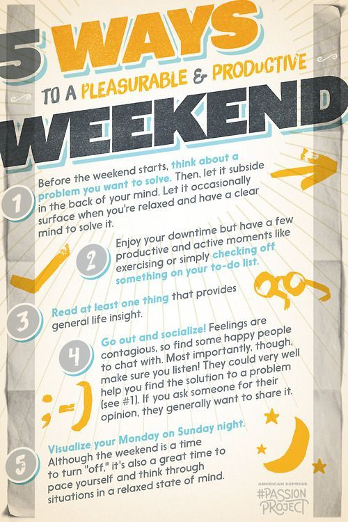 Tips for a pleasurable & productive weekend :  #produktiv #arbeit #office #wochenende