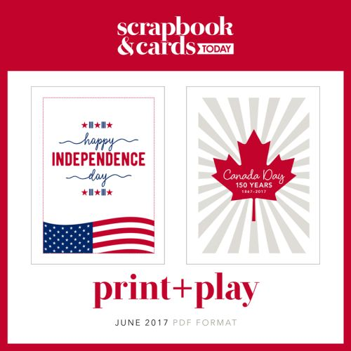 June FREE Print + Play Printable from SCT Magazine  - Independence Day and Canada Day