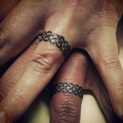 Knotted Wedding Ring Tattoo
