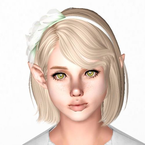 soccer hairstyles for girls : Newsea`s Sweet Scar hairstyle retextured by Sjoko for Sims 3 - Sims ...