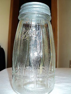 Vintage Ball Freezer Refrigerator Quart Mason Jar Tapered Ribbed Zinc Lid A19 | eBay