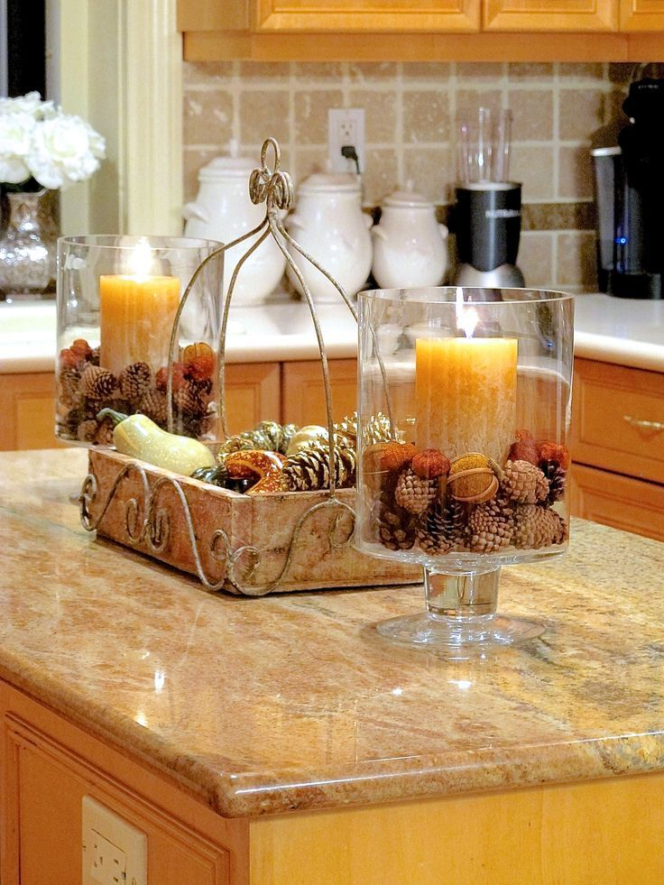 fall room decor 6 ways to add autumn warmth to your kitchen so cute countertops and i love. Black Bedroom Furniture Sets. Home Design Ideas