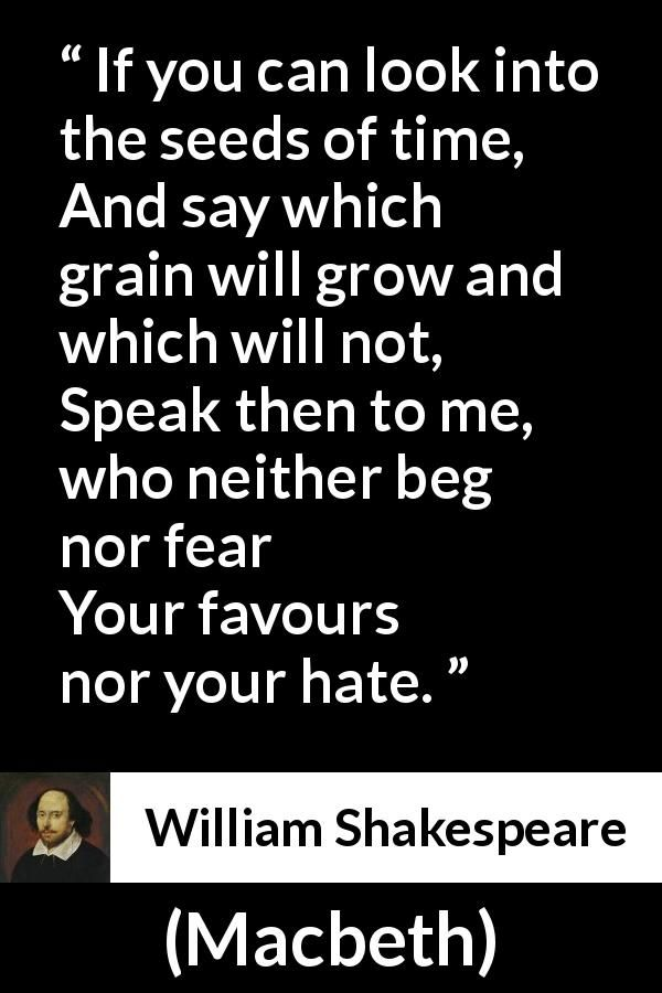 the theme of deception in macbeth by william shakespeare William shakespeare  the main theme of macbeth—the destruction wrought when ambition goes  lady macbeth relies on deception and manipulation rather.