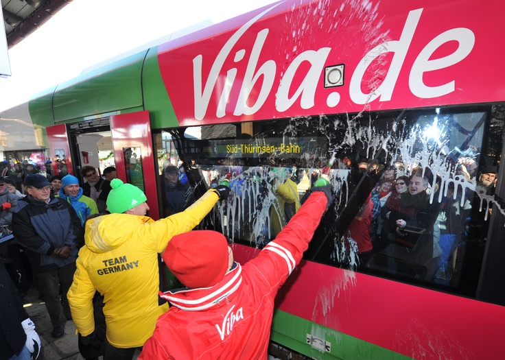 Die ViBahn-Taufe!  Copyright © 2012, Viba sweets GmbH