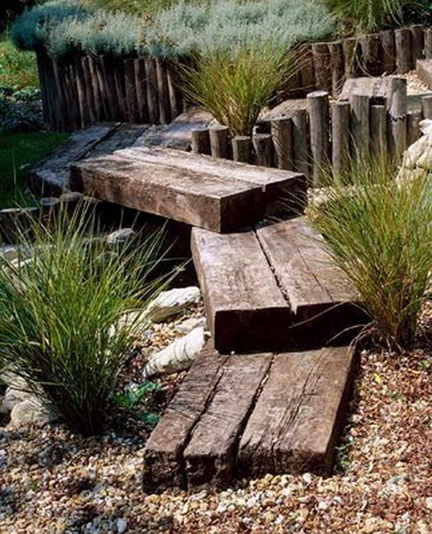 Cottage Garden Ideas Art Studios And Courtyard Garden Ideas Back Yards In 2020 Rustic Gardens Garden Design Sloped Garden