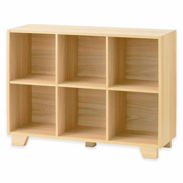 Real Simple 174 Bi Directional 6 Cube Storage Unit In Natural