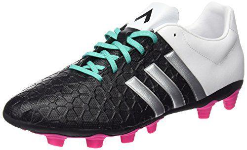 detailed look 0b206 282cd adidas Ace 15.4 FXG Botas de fútbol, Hombre, Negro   Plateado   Blanco, 40  2 3
