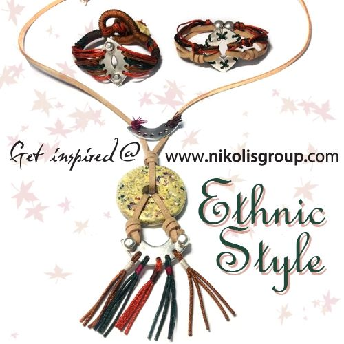create unique jewellery 'ethnic style' using metal castings silver plated, greek ceramics and cords! find all the materials @ www.nikolisgroup.com