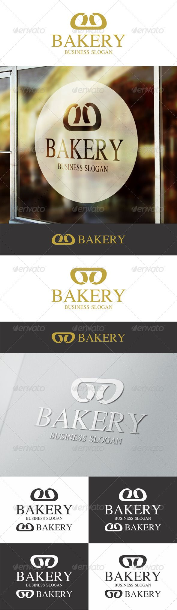 Bakery Bread Logo Template – perfect for bakery, baking, cooking or pastry services in an elegant and modern style. Croissant symbol. Letter B logo. Simple. Modern. Strong. Included horizontal and vertical versions. File is easy to customizable.