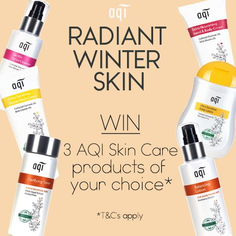 Only a few hours left to enter our Radiant Winter Skin Competition.  For your chance to win 3 AQI products of your choice simply follow the below steps: 1) Like this post (on Facebook) 2) Head to our website (www.aqicare.com) and choose the 3 products you would like to win 3) Leave a comment on this post with your chosen 3 products