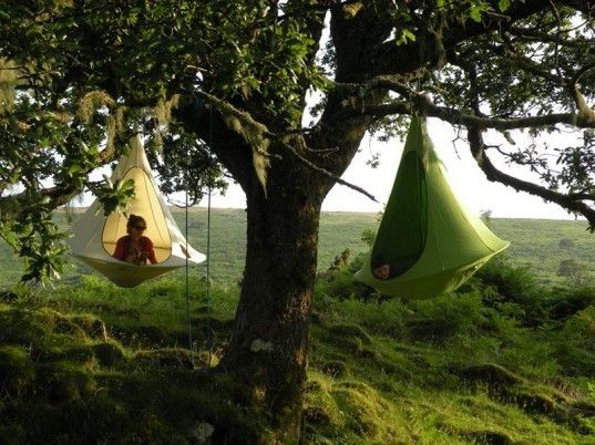 Cacoon: An Indoor/Outdoor Hanging Tent That You Can Take Anywhere | Inhabitots #tent