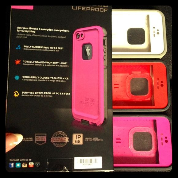 3 Lifeproof Iphone 5 cases (100% Authentic) Price for each, selling separately. 3 used authentic LifeProof cases in great shape. If you know anything about these cases you know they're $80 per case.... Please keep in mind they're used but in great conditi