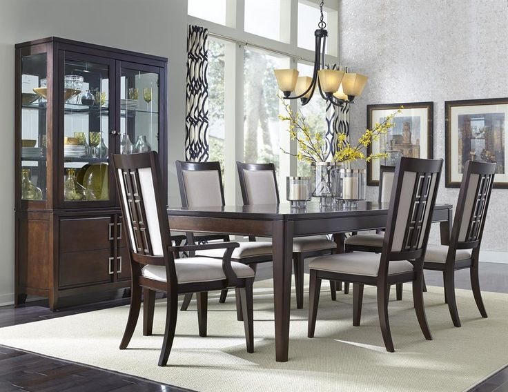 Brighton Contemporary Dining Table Set By Samuel Lawrence At Powells Furniture And Mattress