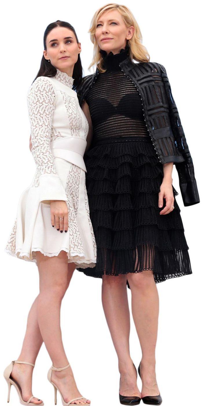 """Élégance et parfaite harmonie entre les deux actrices #CateBlanchett et #RooneyMara amantes dans le film """"Carol"""" de Todd Haynes."""