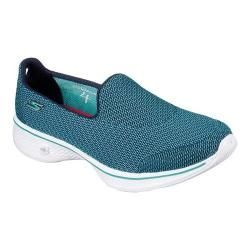 Shop for Women's Skechers GOwalk 4 Majestic Slip-On Teal. Get free delivery at Overstock.com - Your Online Shoes Outlet Store! Get 5% in rewards with Club O! - 20746254