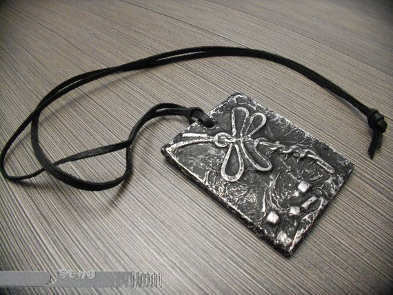 Locket, image of a dragonfly, imitation of old metal