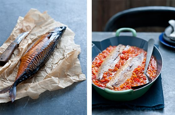 Roken o, wat wordt vis er lekker van! maak zelf een heerlijke tomatensaus en laat de makreel de smaken opnemen.