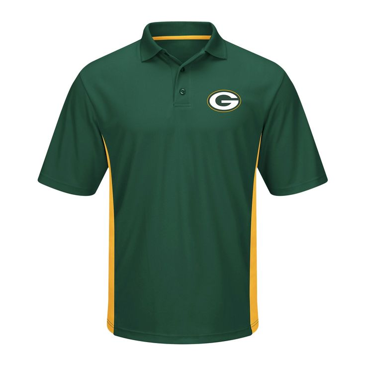 Green Bay Packers Tops Polo Team Color Xxl, Men's, Multicolored