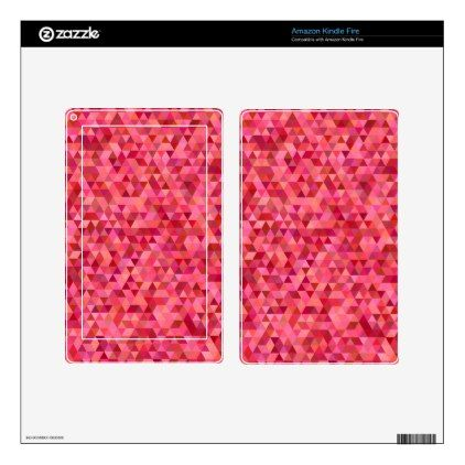 Pink Triangles Decal For Kindle Fire