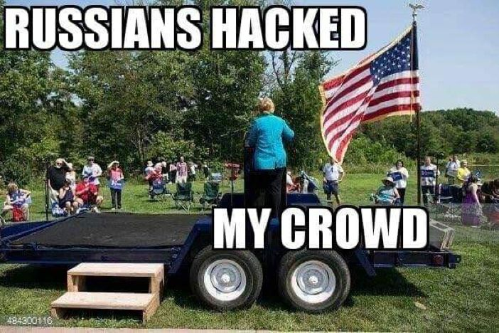 Oh Hillary...Lol!!!  They NEVER SHOW HER CROWDS!!!!!! If you listen , their not that many people there!
