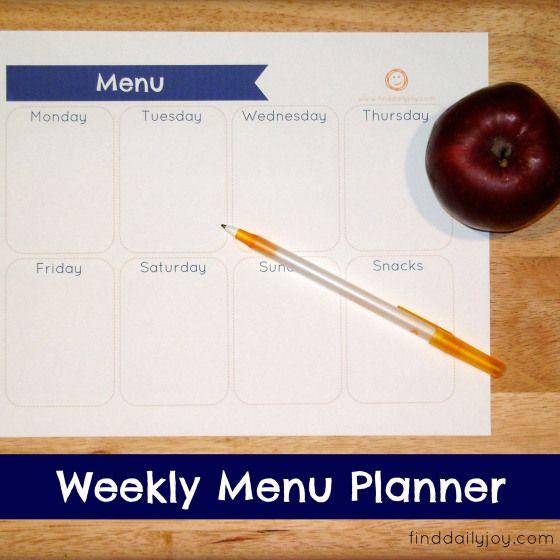 Fresh Weekly Menu Planner Free Printable finddailyjoy Wochenkarte BedruckbareW chentliche Men planerKostenlos AusdruckbareH lleK che