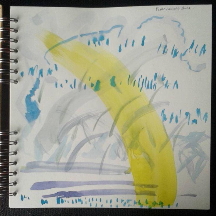 #watercolour doodles while listening to #paperscissorsstone  #porticoquartet #abstractart