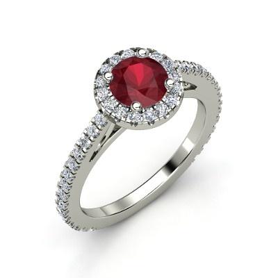 The Matilda Ring #customizable #jewelry #ruby #diamond #gold #ring #newarrival