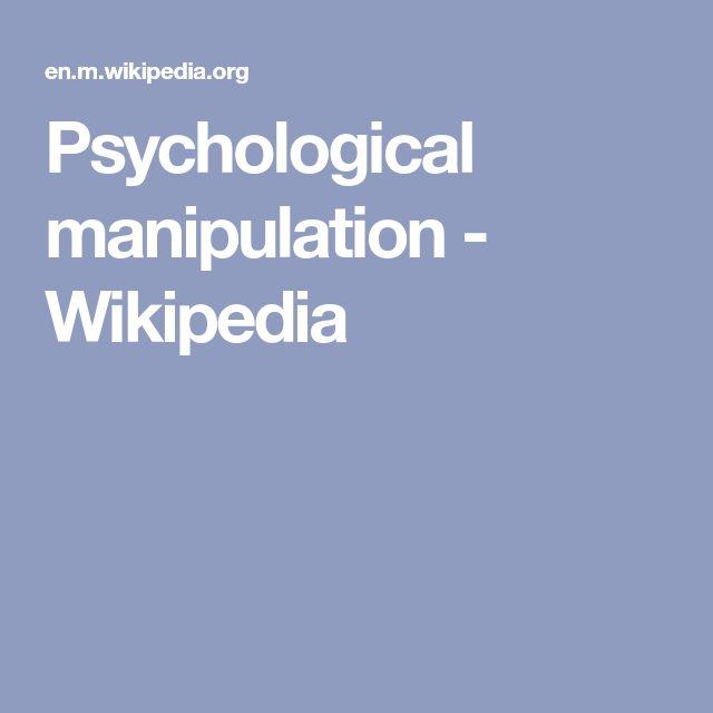 Psychological manipulation - Wikipedia