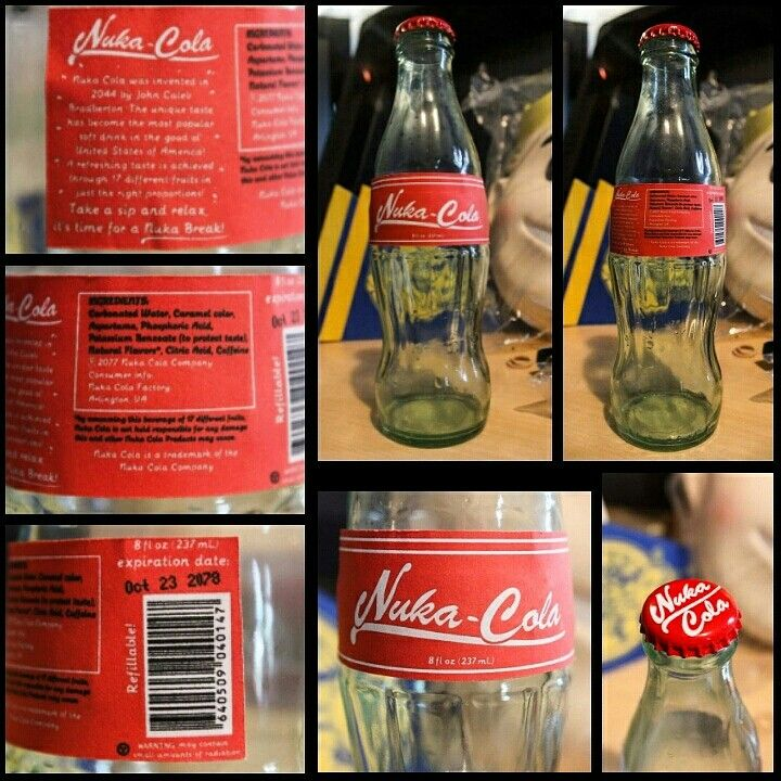 Nuka Cola bottle created in one night! Created my own design for the back ground and everything else. Even the cap is printed with my vector! For sale here soon if you want one!