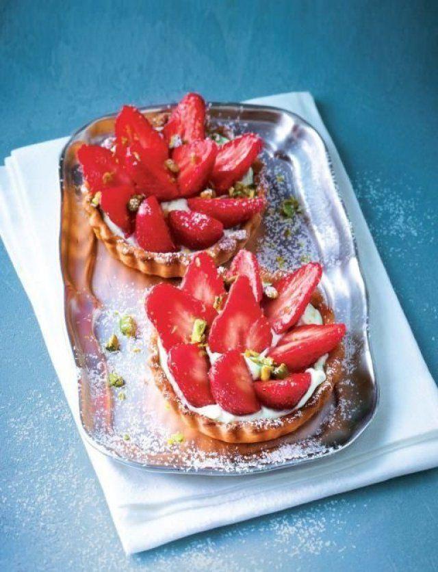 Tartelettes express aux fraises et à la menthe recette pas chère