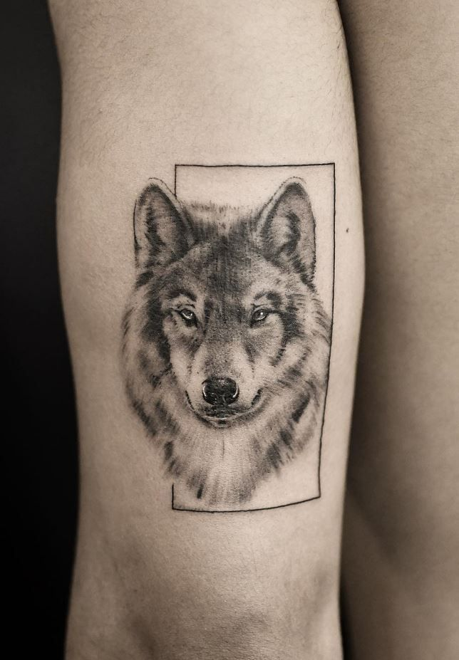Black Gray Wolf Tattoo Grey Wolf Tattoo Wolf Tattoos Men Wolf Tattoo