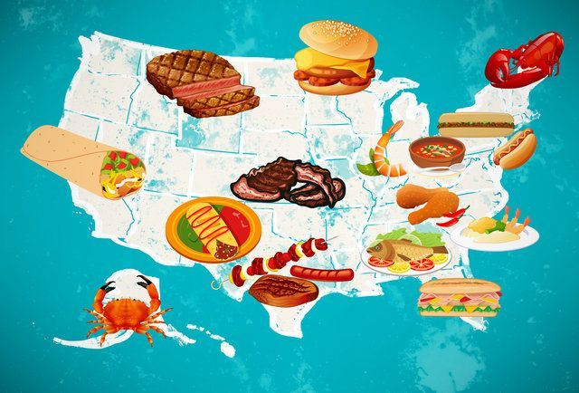 The One Must-Eat Food in Every State - great roadtrip - and combining it with diners drive-ins and dives would be even better!