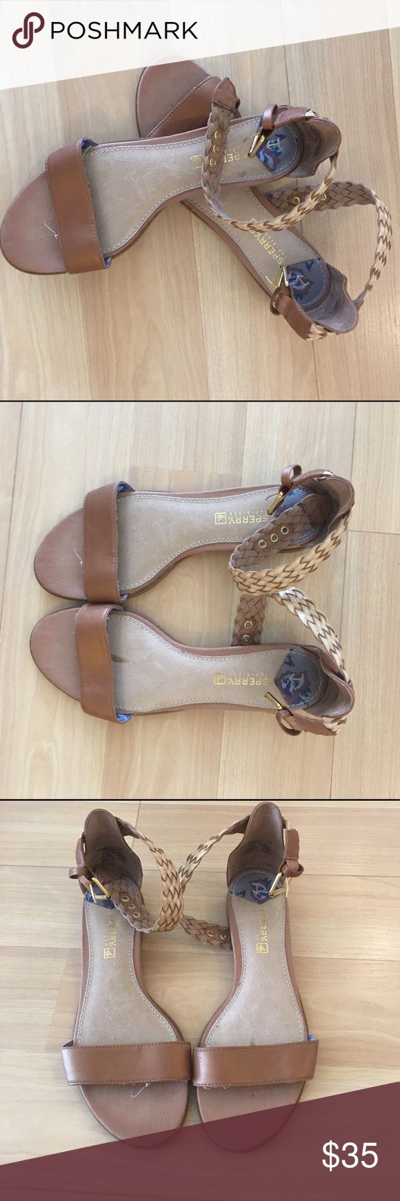 Sperry Women's Flat Sandals Sperry Women's Sandals - Sz 7.5 - Leather Upper Sole with non-skid bottom - great condition - worn once - All sales final. Please ask any questions before purchasing. Sperry Shoes Sandals
