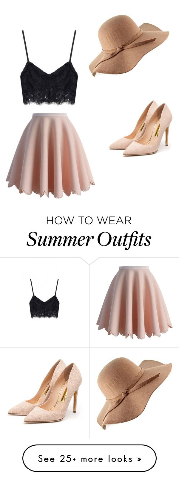 """summer outfit"" by blkchezka on Polyvore featuring Chicwish and Rupert Sanderson"