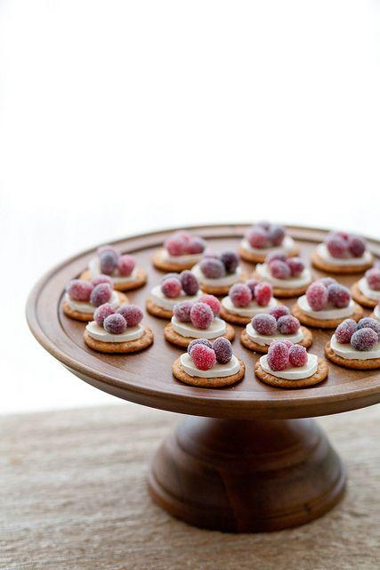 sparkling cranberry brie bites  {Annie's Eats}