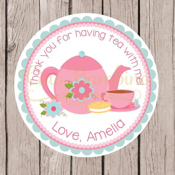 Tea Party Birthday Party Favor Tags or Stickers / by ciaobambino