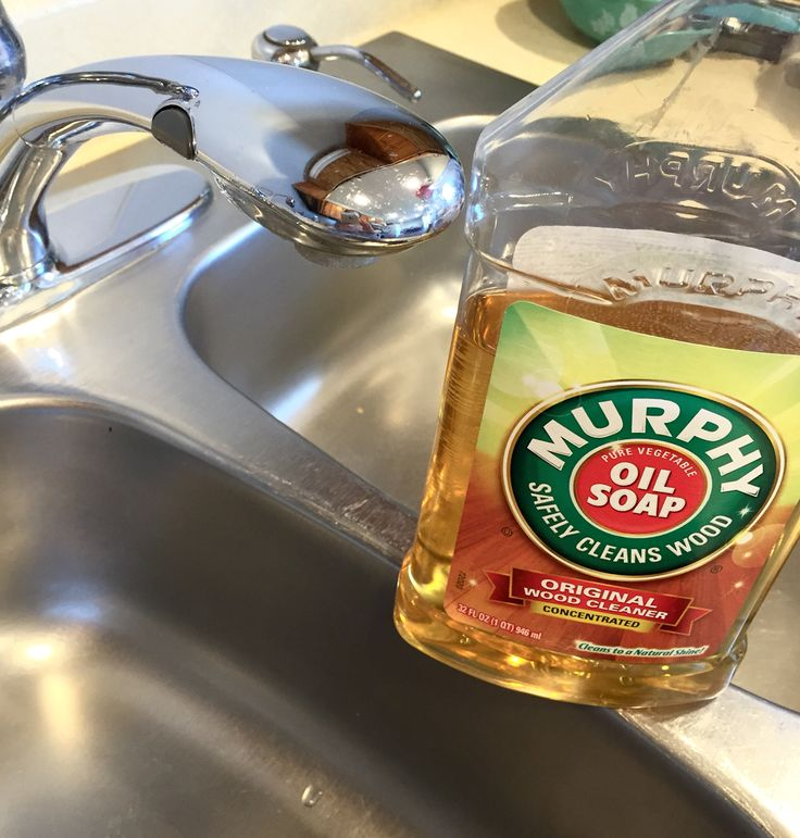 Shine & Water spot protect that old stainless steel sink with little effort using Murphy Oil Soap, then buff dry!