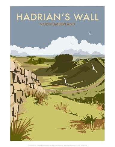 Hadrians Wall - Dave Thompson Contemporary Travel Print Posters by Dave Thompson - AllPosters.co.uk