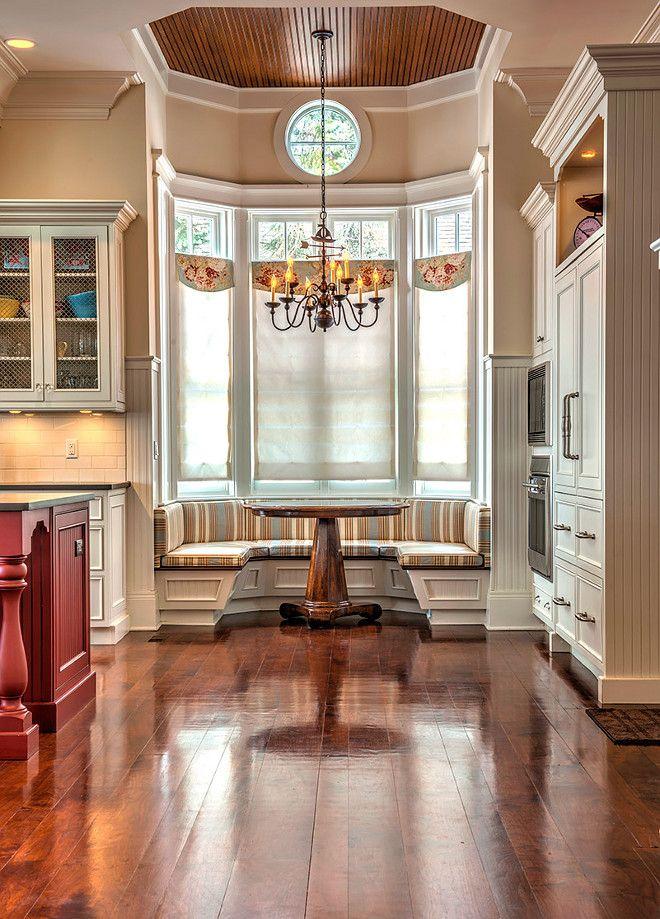 Amazing Kitchen With Cozy Beautiful Breakfast Nook ! Photo Scott Francis AD