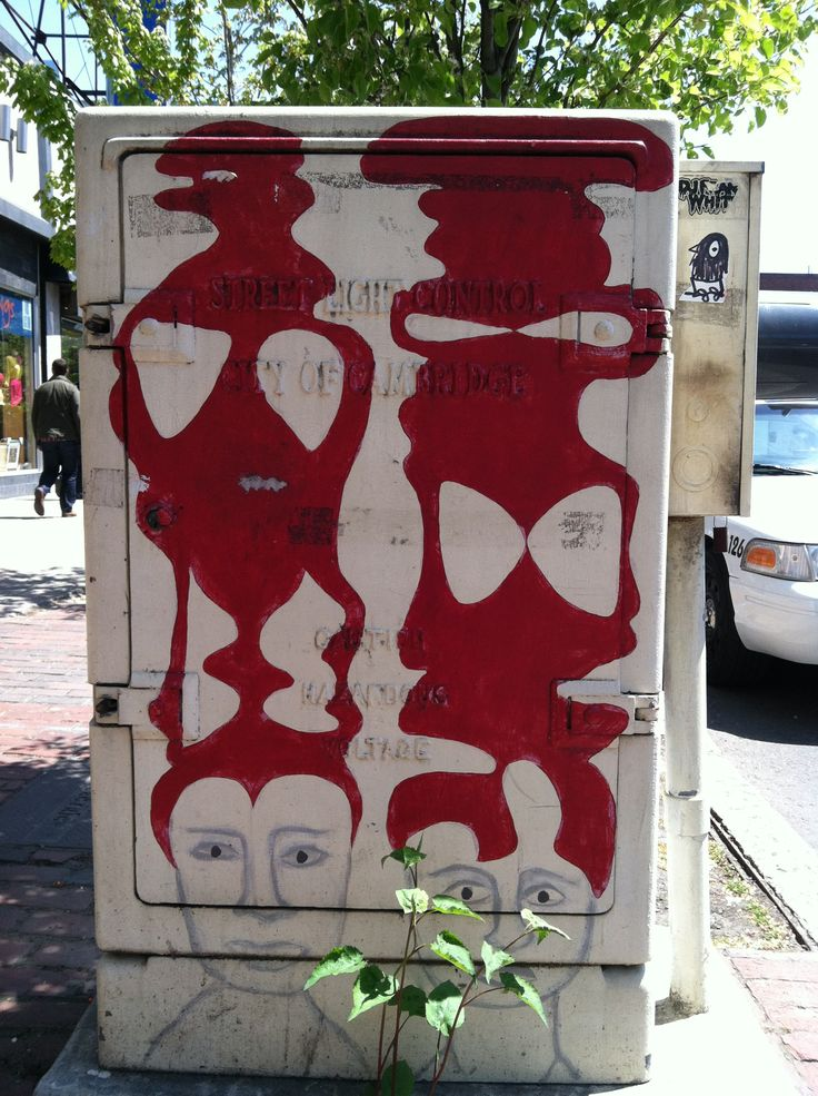 Just a random electrical box along Mass. Ave. in Central Square, transformed into art.